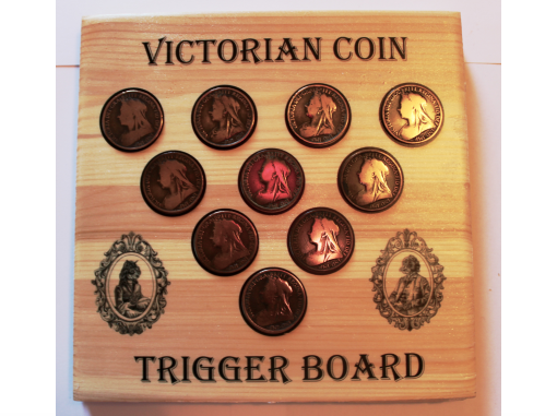 Trigger board front coins
