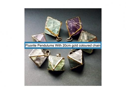 Fluorite pendulums